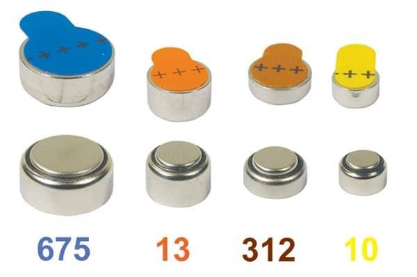 कान की मशीन की बैटरी रंगीन प्लास्टिक टैब के साथ blog image