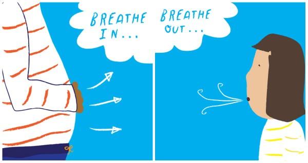 हकलाने का इलाज करने के लिए साँस लेने का व्यायाम blog image