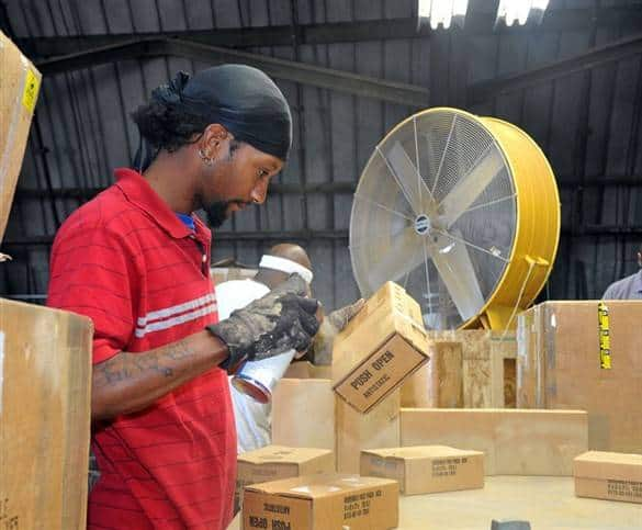 Deaf person trained as factory worker