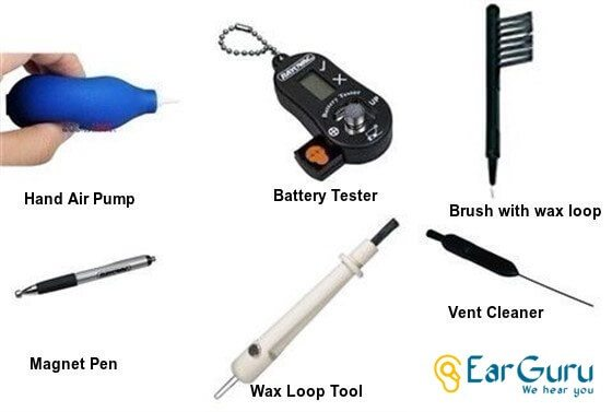 Handy Hearing Aid Maintenance Tools | Hearing Aid Cleaning and Maintenance Kit