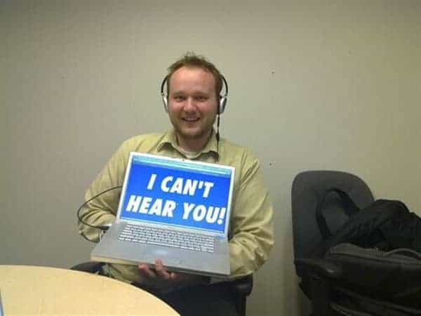 I can't hear you blog image