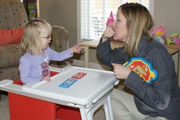 Speech Therapy session in progress for a Down Syndrome Baby blog image